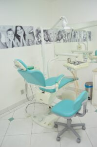 family dentist office with pictures of families on walls