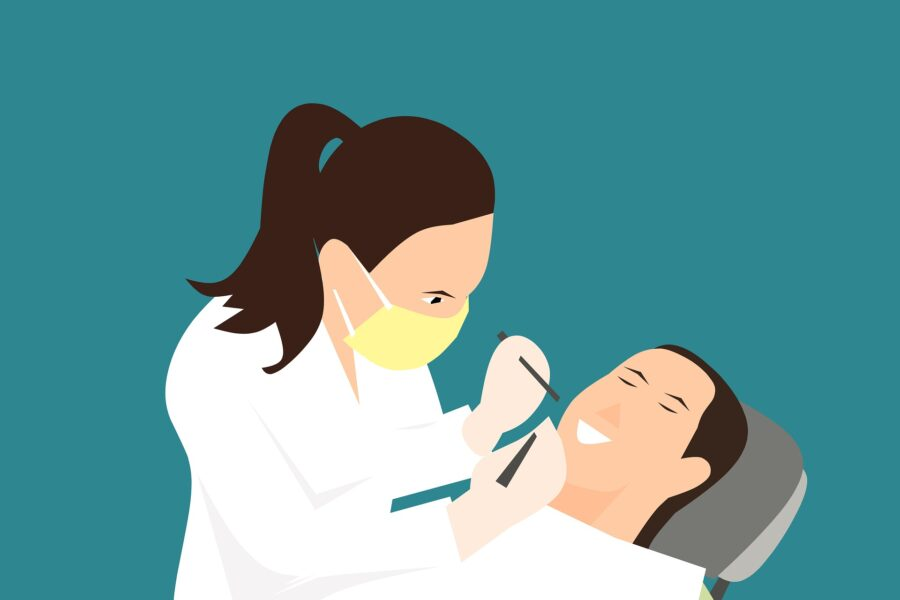 Family dentistry professional filling cavity